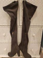 s knee boots size 9 catherine malandrino grey sorcha faux suede the knee boots