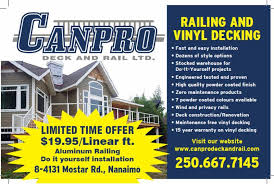 canpro deck and rail ltd opening hours 8 4131 mostar rd