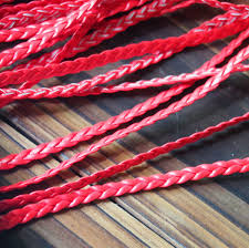 leather necklace cords wholesale images Wholesale braided leather cord jewelry supplies 5mm red quality jpg