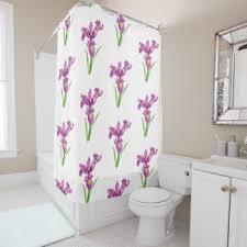 Shower Curtains Purple Purple Floral Shower Curtains Zazzle