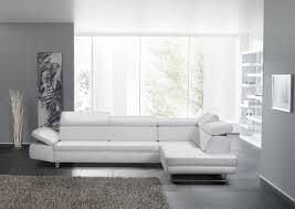 canapé cuir blanc design 2 5 places avec chaise longue bandibandi cuir ou tissu
