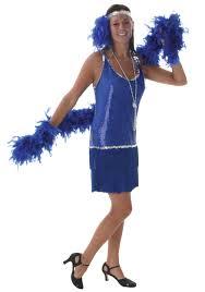 Halloween 1920s Costumes Royal Blue Flapper Dress 1920s Costumes Women