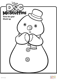 printable doc mcstuffins coloring pages chilly snowman