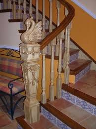 interior wood stair railing kits wooden with bars indoor for