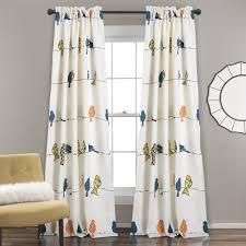 bird on the tree room darkening window curtain set lush décor