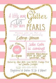 pink and gold baby shower invitations baby shower invitation girl and the invitations of
