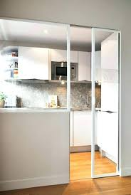 porte de cuisine en verre porte de cuisine coulissante drawandpaint co