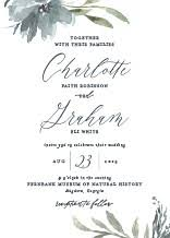 floral wedding invitations floral wedding invitations with free customization elli