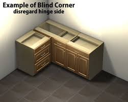 blind corner kitchen cabinet ideas 1 door 1 drawer blind corner base cabinet right side hinged