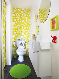 bathroom square sweet color motif combined with mickey decoration