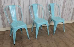 Tolix Dining Chairs Vintage Retro Tolix Style Dining Chair In Blue