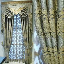Chocolate Curtains Eyelet High Quality Thick Chenille Fabric Insulated Blackout Curtain 42