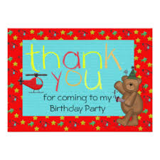 childrens birthday thank you notes gifts on zazzle