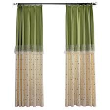 Green And Beige Curtains Beige And Green Floral Color Block Curtains Casual Leaf