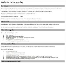 privacy policy sample template free privacy policy generator for