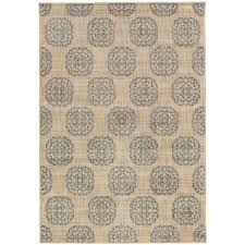 Slate Area Rug Home Decorators Collection Essex Medallion Slate 5 Ft 3 In X 7