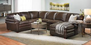 Winfield Leather Sectional Sofa Haynes Furniture Virginias - Sectionals leather sofas