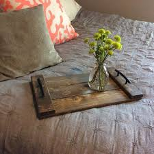 ottoman trays home decor wood serving tray home decor accessory with weathered walnut stain