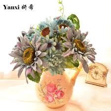 aliexpress com buy artificial flowers silk sunflower bouquets