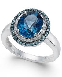 blue rings white images Macy 39 s london blue topaz 2 3 4 ct t w blue and white diamond tif