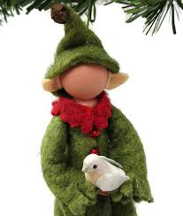 elf christmas ornament green clothespin ornament elf