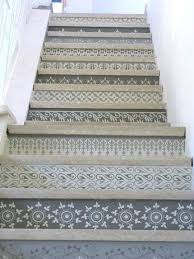best 25 stenciled stairs ideas on pinterest painted stairs