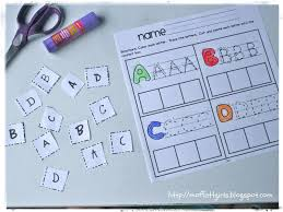 Learning To Write Abc Worksheets New Abc Cut And Paste