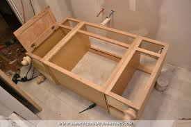 21 Inch Wide Bathroom Vanity by Furniture Style Bathroom Vanity Made From Stock Cabinets U2013 Part 1