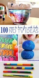 100 tv free activities activities kid activities and craft