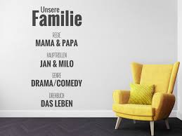 familie sprüche wandtattoos für coole familien familiensprüche und motive