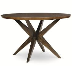 legacy classic kateri round table with pedestal bottom in hazelnut