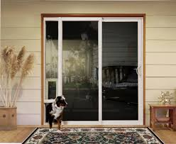 Patio Door With Pet Door Built In Sliding Doors With Pet Access Custom Home Magazine Products
