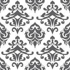 seamless ornamental decorative pattern with floral swirl motifs