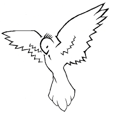 flying bird tattoo drawing