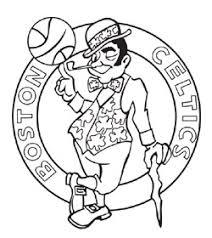 Celtics Coloring Pages court boston celtics