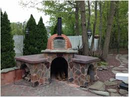 backyards cozy louis diy wood fired outdoor brick pizza oven 17