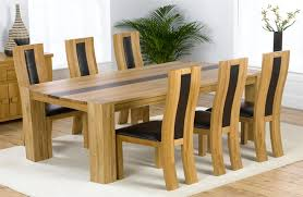 Oak Dining Table Chairs Projects Idea Oak Dining Table Set All Dining Room