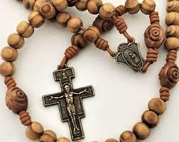 wooden rosary wood rosary etsy