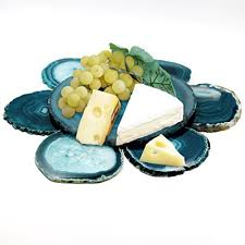 Unique Coasters Agate Coasters Deluxe Serving Sets