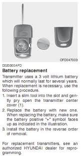 2005 hyundai elantra battery replacement what to do when the wireless key fob battery dies on a 2005
