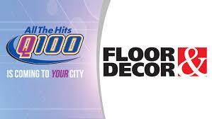 Floor And Decor Atlanta Ga Floor U0026 Decor Q100 Wwwq Fm
