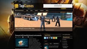 topgames blogger template btemplates