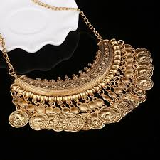 golden fashion necklace images Buy new design women 39 s fashion golden coins jpg