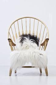 White Sheepskin Rugs Furniture Sheepskin Chair With Cushy Comfort And Modern Style