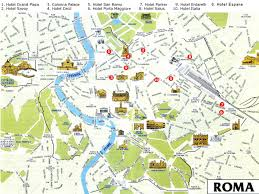 Pisa Italy Map by Maps Update 21051489 Map Of Tourist Attractions In Rome U2013 Rome