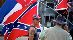 State Flag Of Virginia Pro Confederate Protesters In Richmond Rally In Support Of The Flag