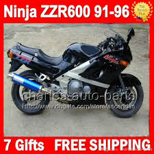 7gifts all gloss black for kawasaki ninja zzr600 91 96 zzr 600 zzr