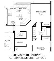 julington lakes ambassador collection the grandville home design optional alternate kitchen layout floor plan