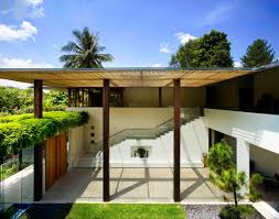 courtyard home contemporary courtyard house in singapore idesignarch interior
