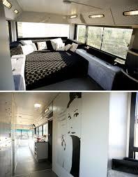 Motorhome Custom Interiors Run Down City Bus Converted To Chic Custom Diy Rv